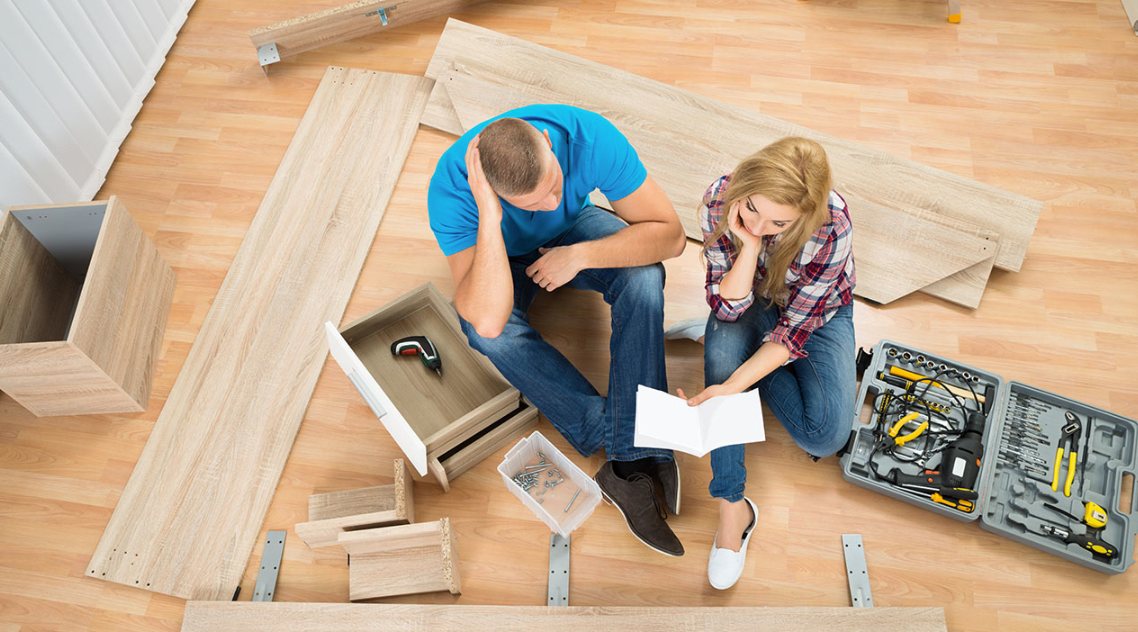 disassemble furniture before moving